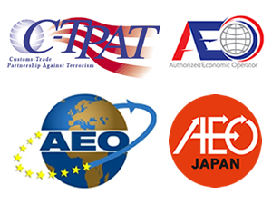 Having established a security management and compliance system, we are currently going ahead with AEO/C-TPAT certification