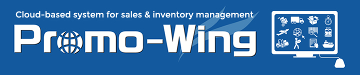 Promo-Wing (our cloud-based system for sales and inventory management) Main Visual