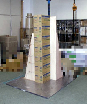 Stacked product vibration test